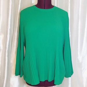 Adrianna Papell Pleaded Georgette Blouse (XL)